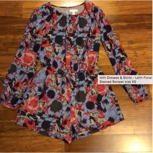Leith Floral Long Sleeved Romper size